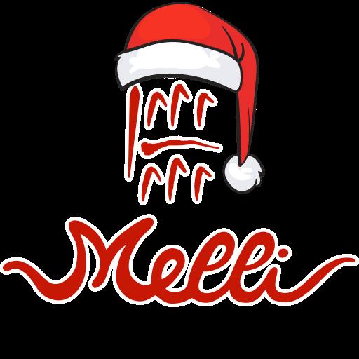 logo di Natale del panificio Melli